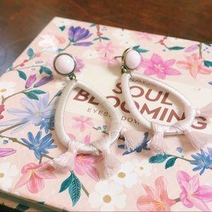 baublebar • blush pink tassel earrings